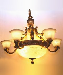 Alabaster chandeliers gilt bronze and alabaster chandelier from france aloadofball Image collections